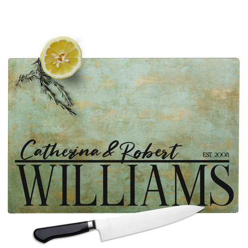 Glass Cutting Board  Rectangular Design 6