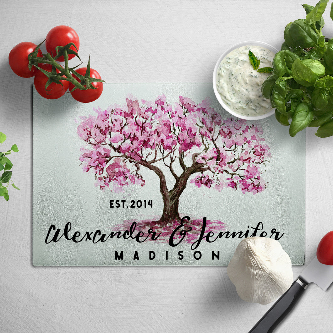 Glass Cutting Board  Rectangular Design 8