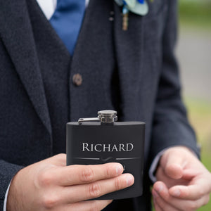 Personalized Black Flask - Design 2