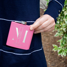 Load image into Gallery viewer, Personalized Pink Flask - Design 5