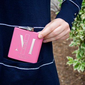 Personalized Pink Flask - Design 5