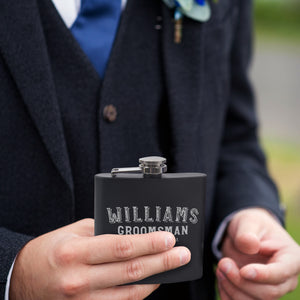 Personalized Black Flask - Design 7