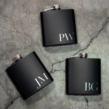 Load image into Gallery viewer, Personalized Black Flask  - Design 10