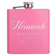 Load image into Gallery viewer, Personalized Pink Flask - Design 4
