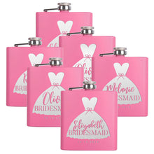 Load image into Gallery viewer, Personalized Pink Flask - Design 1