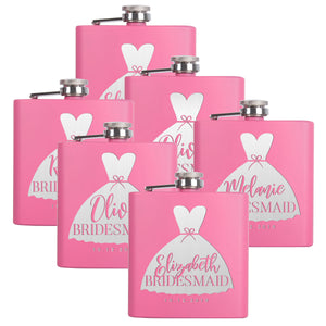 Personalized Pink Flask - Design 1