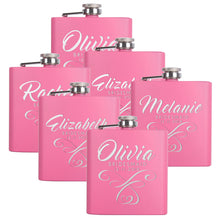 Load image into Gallery viewer, Personalized Pink Flask - Design 2