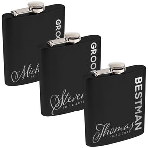 Personalized Black Flask - Design 1