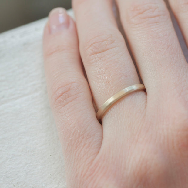 14K Yellow Gold {Flat Profile}