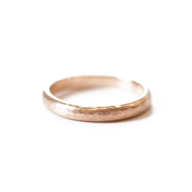 Rose Gold Hammered Band