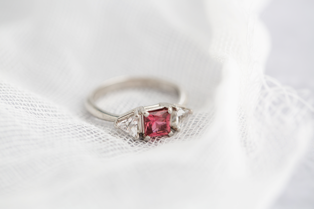 The Pink Princess Cut Ring