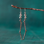 Mokume Branching Earrings