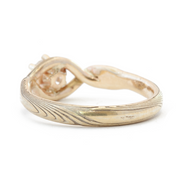 The Yellow Gold Mokume Twist Ring