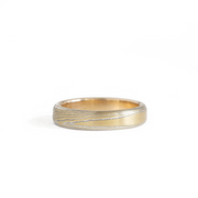 The Mokume Gane Yellow Gold Band