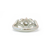 The Diamond Olive Branch Ring