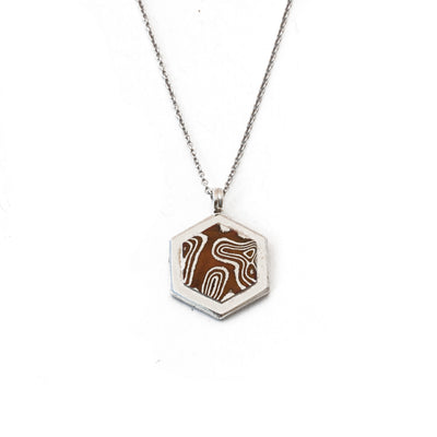 Mokume Hexagon Pendant