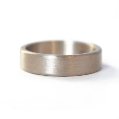 The White Gold Band (Flat Profile)