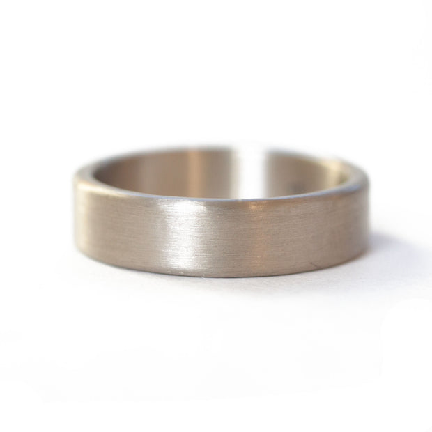 White Gold Flat Band