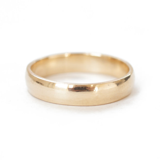 Yellow Gold Wedding Band {classic profile}
