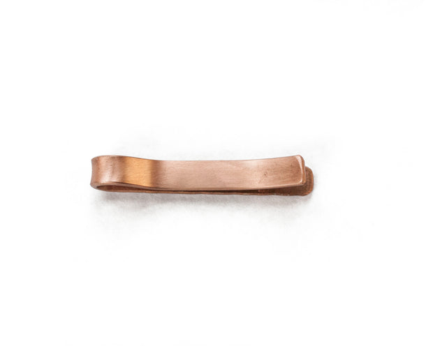 Hammered Copper Tie Bar