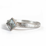 The Mokume Gane Square-Cut Solitaire
