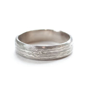Mokume Gane White Gold Band