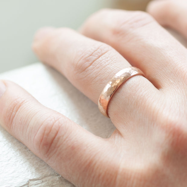 The Rose Gold Hammered Band