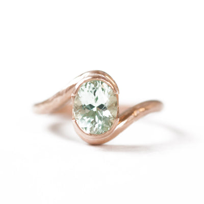 Oval Solitaire Embrace