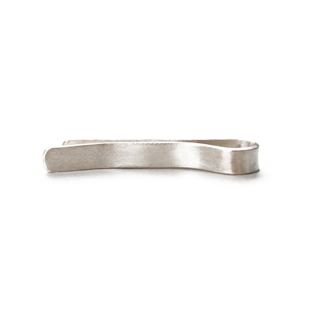 Hammered Silver Tie Bar