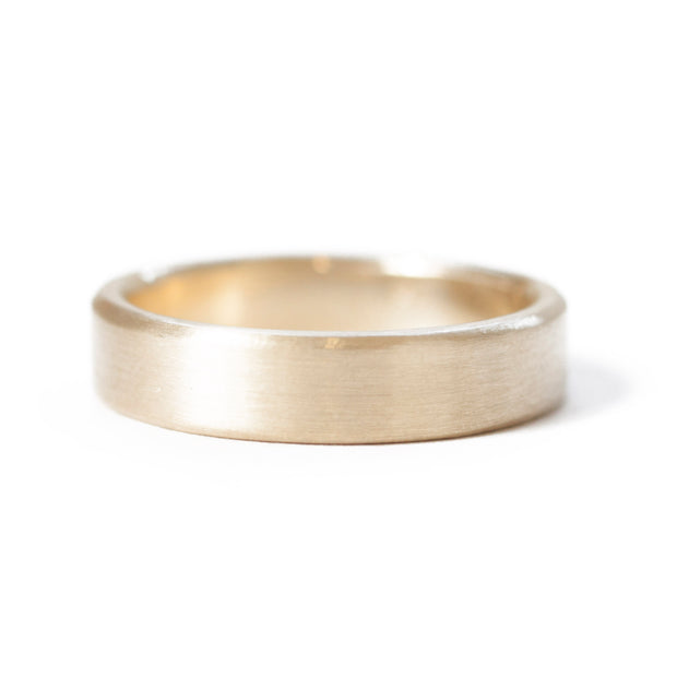The Yellow Gold Band (Flat Profile)