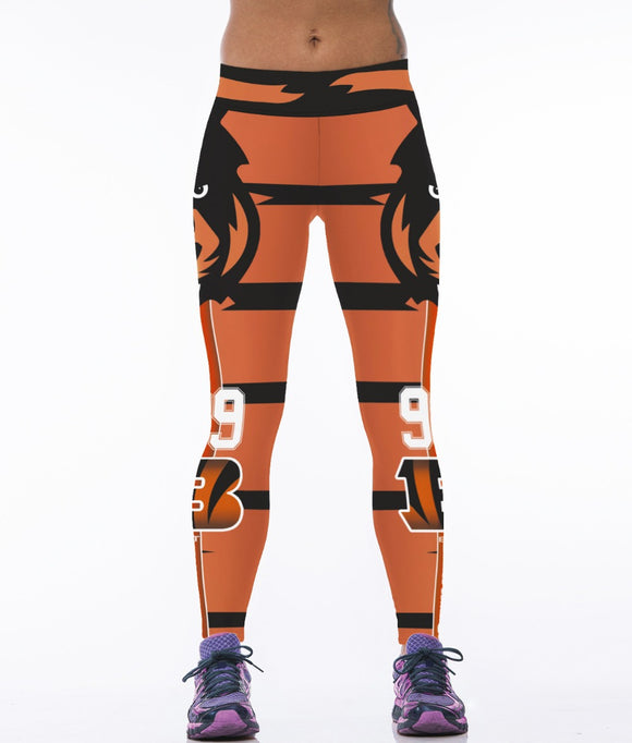 New Design 3 Patterns Bengal Tiger Printing Orange Women Running Pants White Black High Elastic Women Leggings