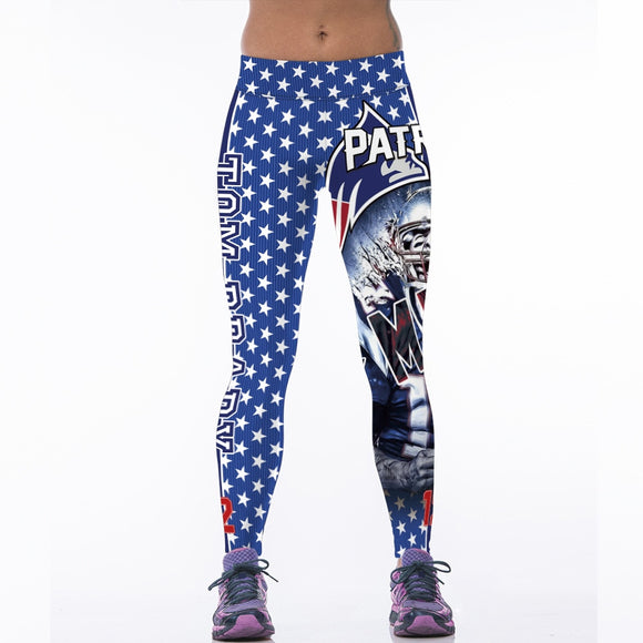 Leggings Women Printed NFL: Tom Brady Patriots