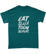 Load image into Gallery viewer, 'Eat. Sleep. Toon. Repeat.' Geordie Mens T-Shirt