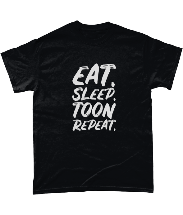 'Eat. Sleep. Toon. Repeat.' Geordie Mens T-Shirt