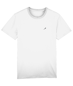 White Magpie Embroidered t-shirt