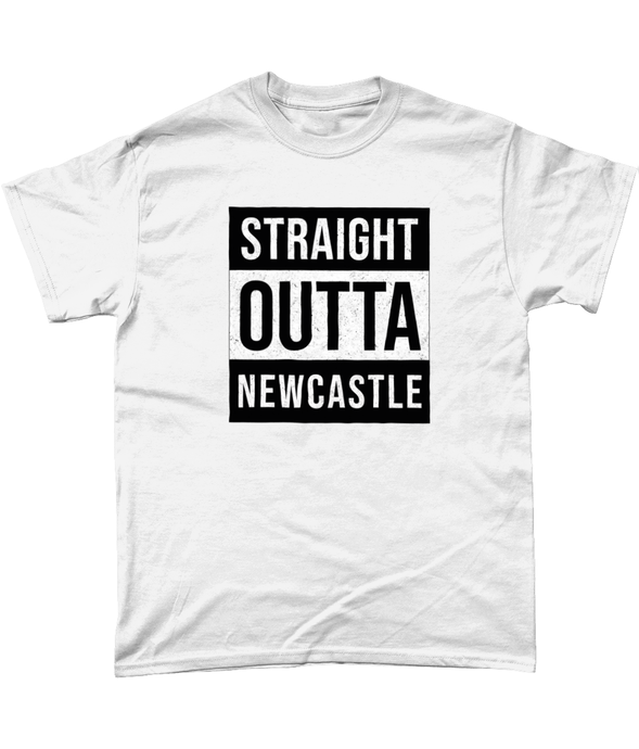 'Straight Outta Newcastle' Geordie Mens T-Shirt