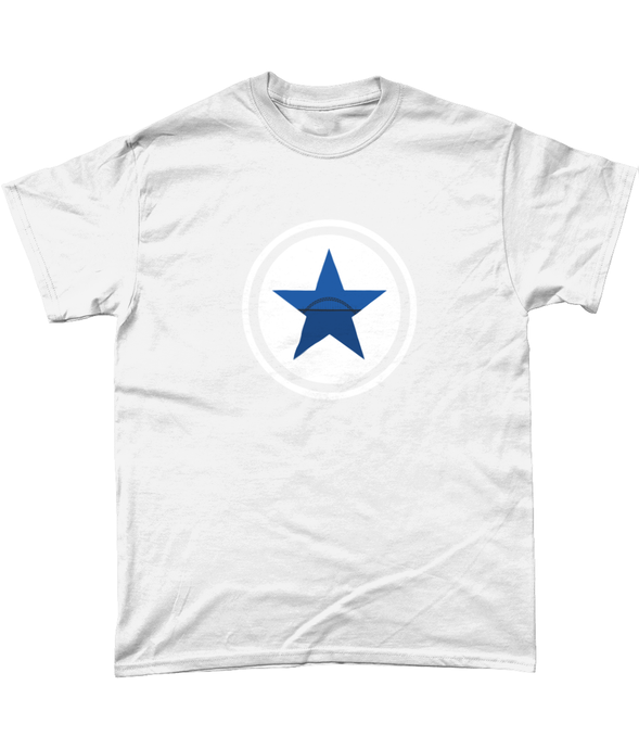 Newcastle Tyne Bridge Blue Star Mens T-Shirt
