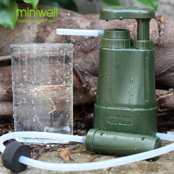 MINIWELL OUTDOOR HIKING WATER FILTER CAMPING CLEAN DRINKING KIT - outdoorposto