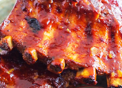 Apple Wood Smoked BBQ Pastured Pork Ribs