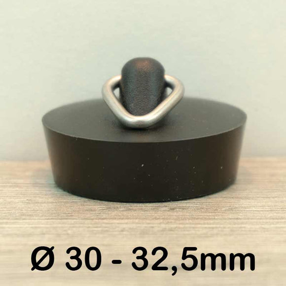 Gootsteen stop Ø30 - 32,5mm (Rubber)