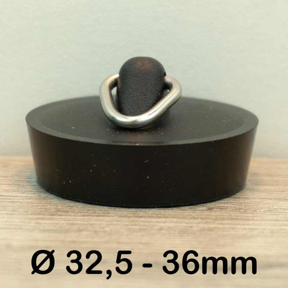 Gootsteen stop Ø32,5 - 36mm (Rubber)