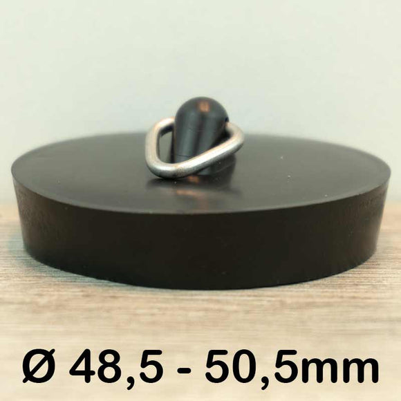 Gootsteen stop Ø48,5 - 50,5mm (Rubber)