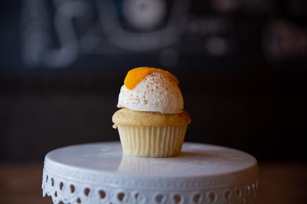 Molly's Center Filled Cupcake - Peach Cobbler