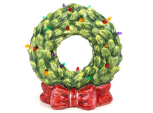 Load image into Gallery viewer, Ceramic Light Up Wreath w/ Bow
