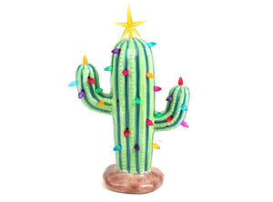 "Ceramic Light Up Cactus (11"" high) Paint at Home- Take Home Kit"