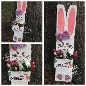"36"" Tall Bunny w box in front"