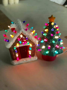 November 2nd PUBLIC- Saturday at 1 pm- Ceramic Christmas Tree, Ginger Bread House, Wreath, Cactus and Lighthouse Workshop