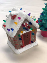 Load image into Gallery viewer, Sept 14th Saturday at 1 pm- Ceramic Christmas Trees and Ginger Bread House Workshop