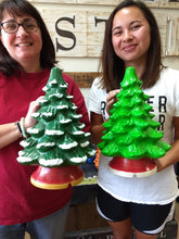 Load image into Gallery viewer, Nov 23rd PUBLIC- Saturday at 1 pm- Ceramic Christmas Trees and Ginger Bread House Workshop