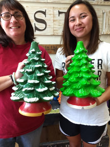 "13"" Ceramic Light Up Christmas Tree- Take Home Kit"